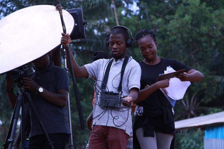 Corneille Houssou, Elodie Guedeme, script, preneur de son, blog cinéma, ecranbenin